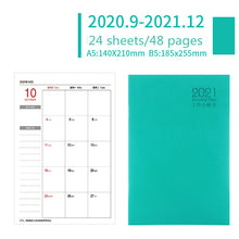 Load image into Gallery viewer, 2021 2022 Planner Organizer A5 Notebook