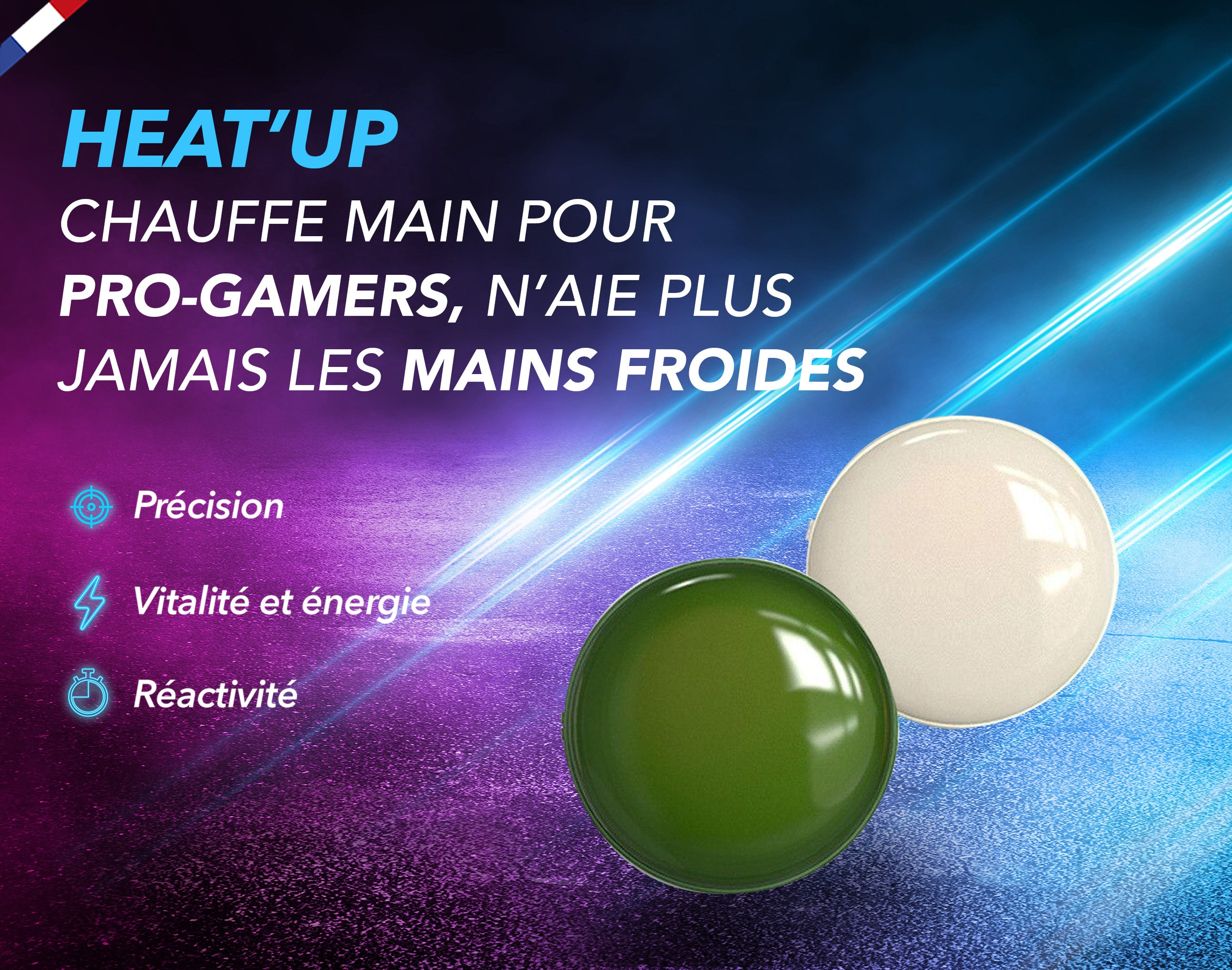 Heat'Up  - Chauffe main Double face pour Pro-Gamers