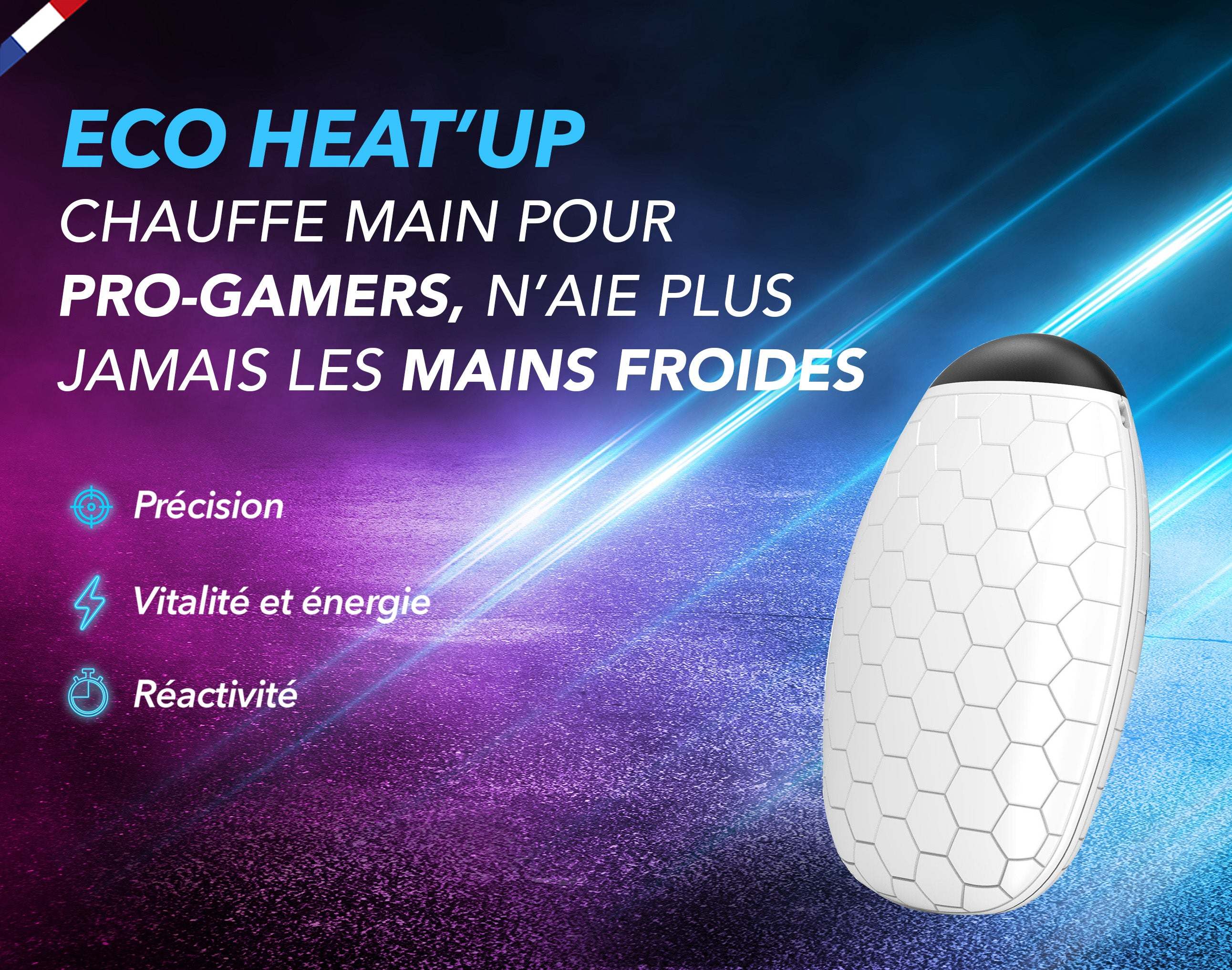 Eco-Heat'Up  - Chauffe main Double face pour Pro-Gamers