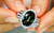 Green Dragon Demantoid Ring with D Flawless Diamonds set in Platinum