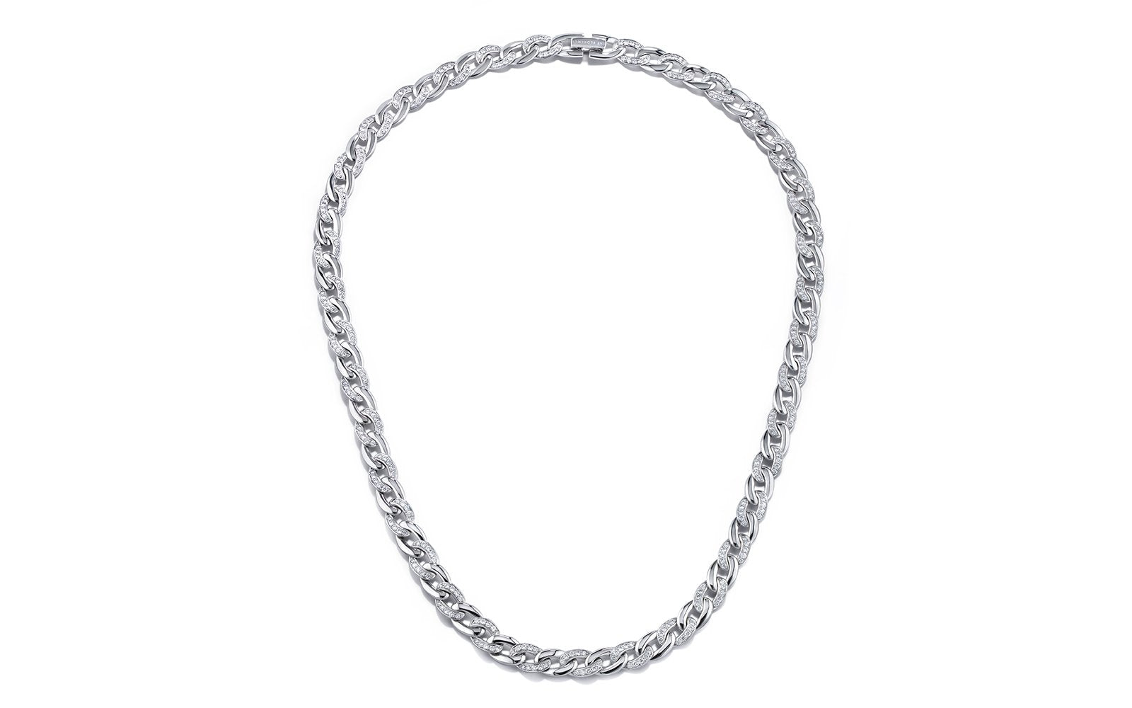 D Flawless Diamond 20 Inch Necklace set in 18K White Gold