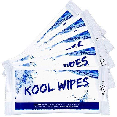 Moist Cotton Towel, Antibacterial Hand, Face and Body Wet Wipes Individually Wrapped, Shower Body Wipes, Portable Towel For Outdoor, Camping Gear, Travel, Yoga, Product from Thailand (30 Count)