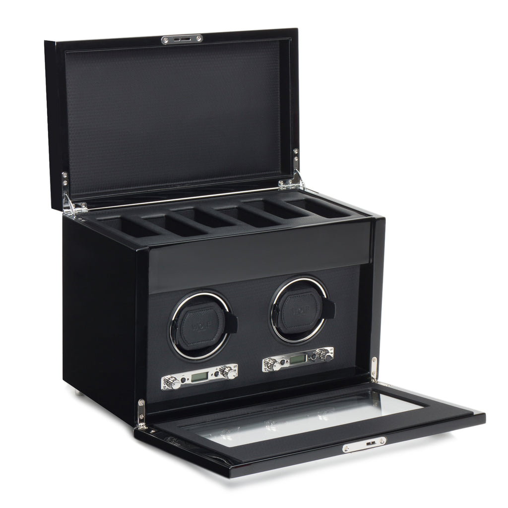 Wolf 1834 Savoy Savoy Double Watch Winder with Storage 454670