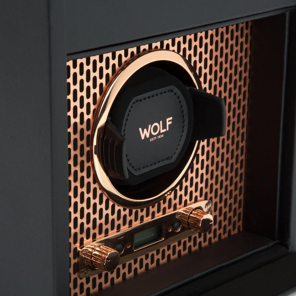 Wolf 1834 Axis Watch Winder Axis Single Winder with Storage 469216