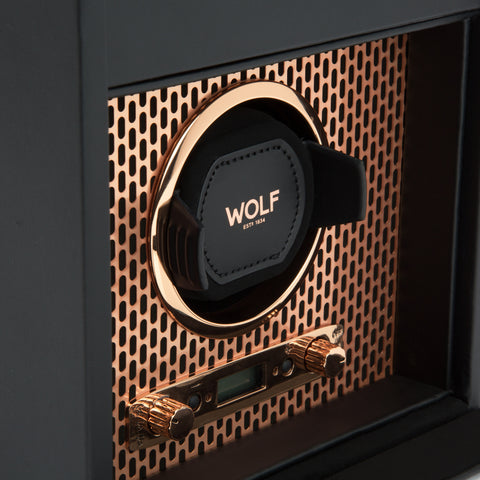 Image of Wolf 1834 Axis Watch Winder Axis Single Winder with Storage 469216