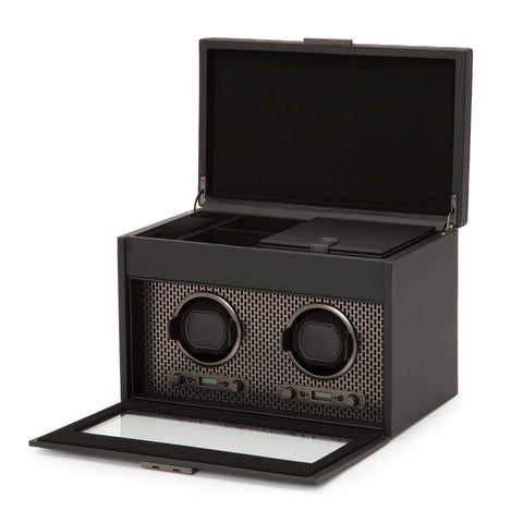 Image of Wolf 1834 Axis Watch Winder Axis Double Winder with Storage 469303