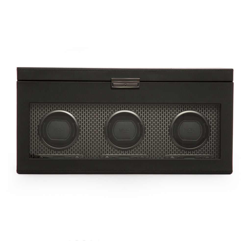 Wolf 1834 Axis Watch Winder Axis Triple Winder with Storage 469403