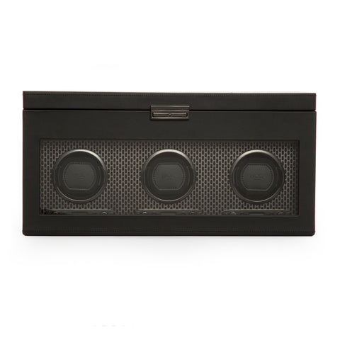Image of Wolf 1834 Axis Watch Winder Axis Triple Winder with Storage 469403