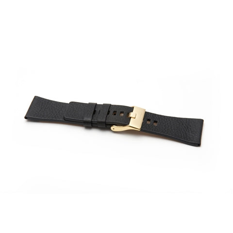 Diesel Replacement Black Leather Watch Strap  DZ4197