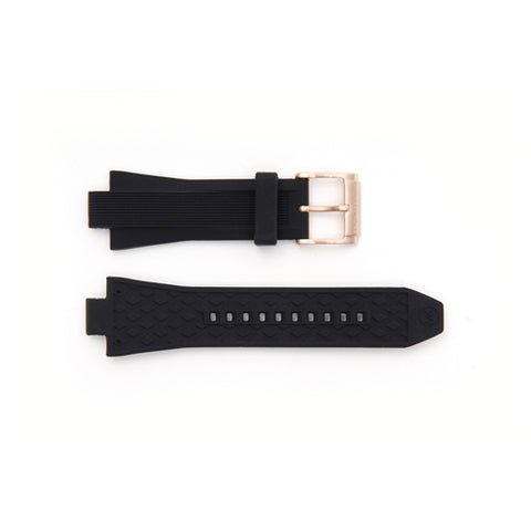 Michael Kors Replacement Black Rubber Watch Strap MK8184