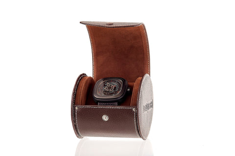 Leanschi Watch Box Pouch for One Watch WPO1-CHOC