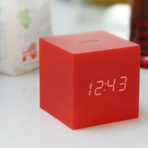 Clock - Gravity Click Cube Clock Red