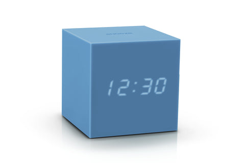 Image of Clock - Gravity Click Cube Clock Skyblue