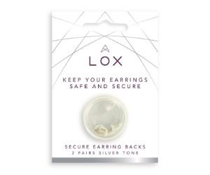 Earrings Back - Lox Silver 2 Pair Secure Earring Backs Pack
