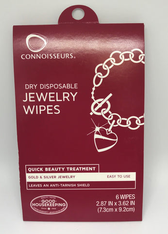 Jewellery Cleaner - Connoisseurs Jewellery Wipes