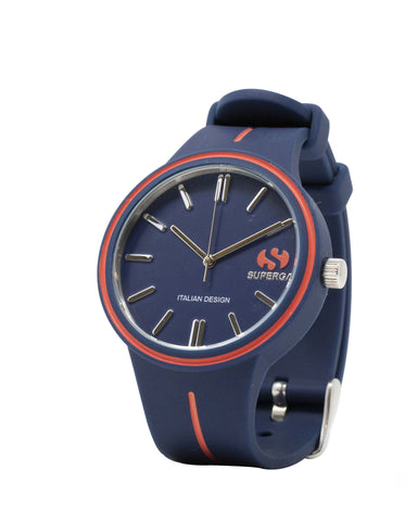 Superga Mens Blue Rubber Watch STC021