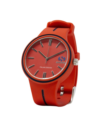 Superga Mens Red Rubber Watch STC022