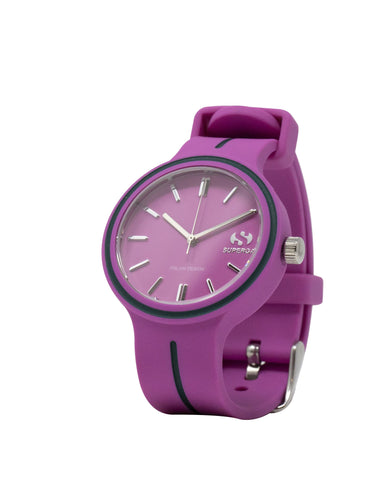 Superga Womens Violet Rubber Watch STC027