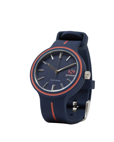 Superga Womens Blue Rubber Watch STC036