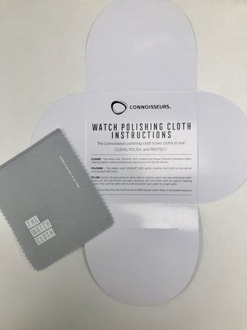 Image of Watch Cleaning Cloth - Watch Cleaning Cloth By Connoisseurs