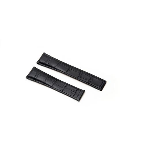 Watch Strap - Replacement Black Croc Style Watch Strap To Fit Tag Heuer 20MM-18MM