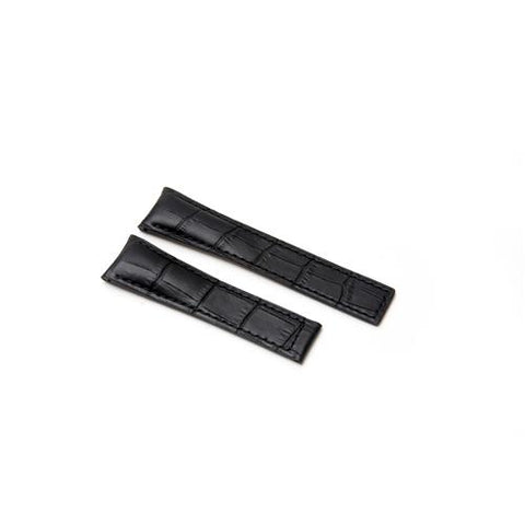 Watch Strap - Replacement Black Croc Style Watch Strap To Fit Tag Heuer 22MM-18MM