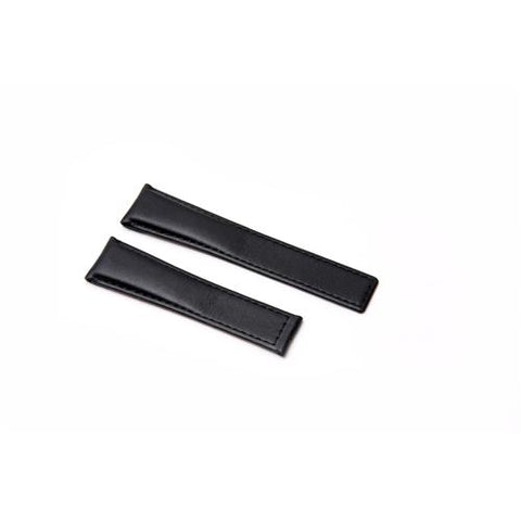 Watch Strap - Replacement Black Smooth Style Watch Strap To Fit Tag Heuer 22MM-18MM