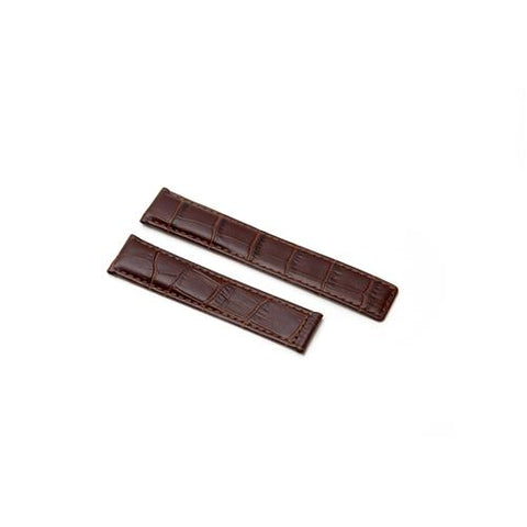 Watch Strap - Replacement Brown Croc Style Watch Strap To Fit Tag Heuer 19MM-18MM