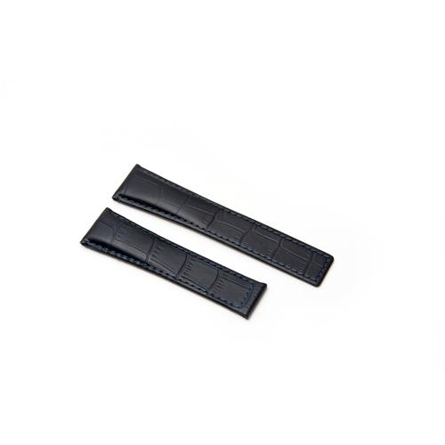 Watch Strap - Replacement Croc Style Black Watch Strap To Fit Tag Heuer 22MM-18MM
