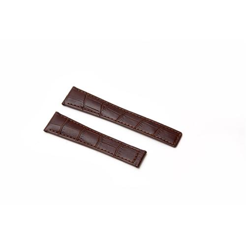 Watch Strap - Replacement Croc Style Brown Watch Strap To Fit Tag Heuer 20MM-16MM