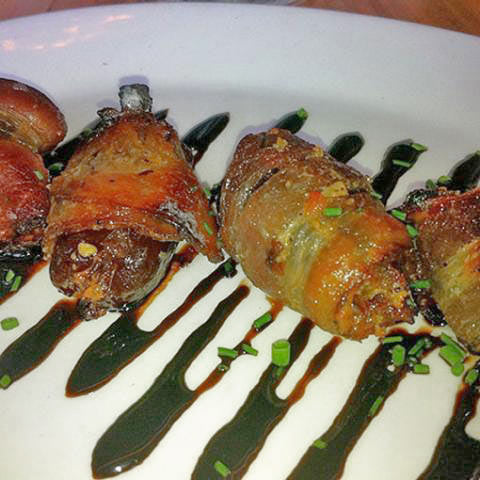 STUFFED DATES WRAPPED WITH BACON