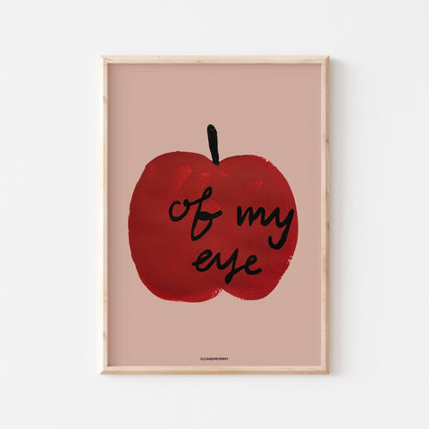 "Kinderzimmer Poster ""Apple of my eye"""