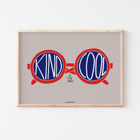 "Kinderzimmer Poster ""KIND IS THE NEW COOL"""