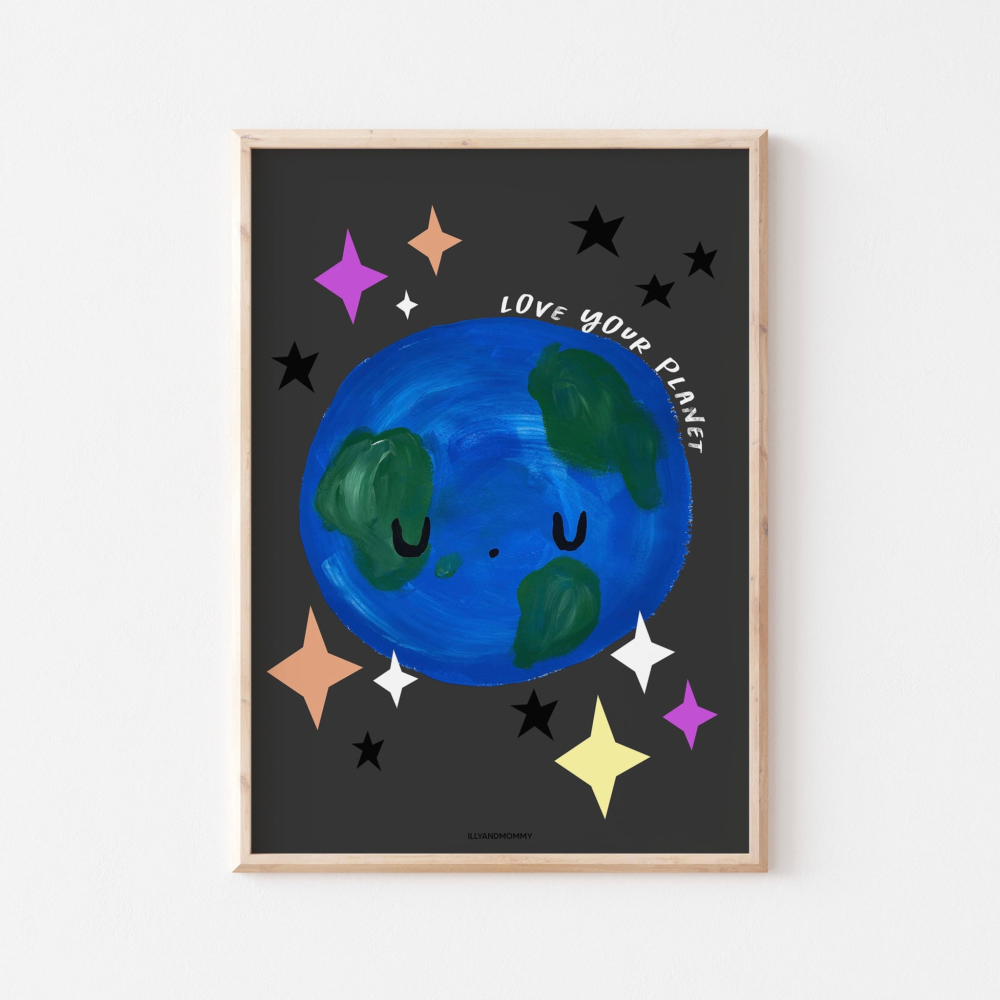 "Kinderzimmer Poster ""LOVE YOUR PLANET"""