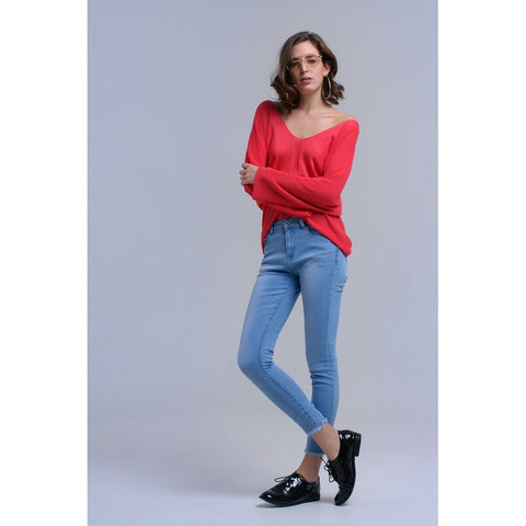 Tamara Light-Blue Skinny Jeans