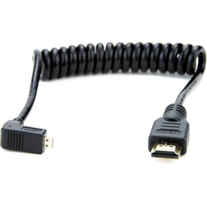 Atomos Right-Angle Micro to Full HDMI Coiled Cable