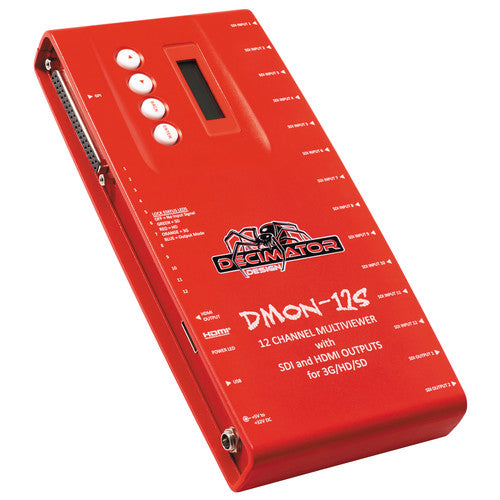 DECIMATOR DMON-12S 12-Channel Multi-Viewer with SDI & HDMI Outputs