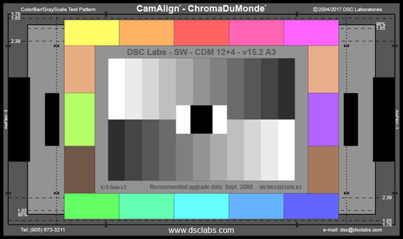 DSC Labs Front Box Portable Test Charts Practically Perfect – ChromaDuMonde 12 + 4 – SRW