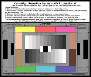 DSC Labs Front Box Portable Test Charts FrontBox Professional