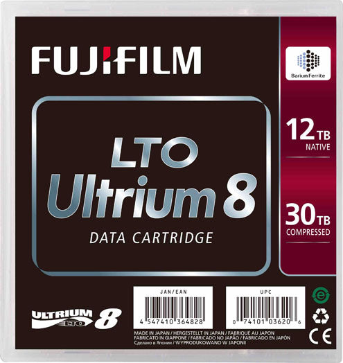 FUJI LTO Ultrium-8 Cartridge, 12TB/30TB