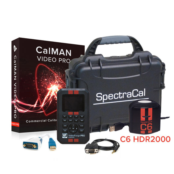 SpectraCal CalMAN Video Pro AutoCal Bundle with C6 HDR2000 & VideoForge PRO