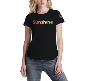 Sunshine Women's 2019 Gradient Plush Crew Tee - Black