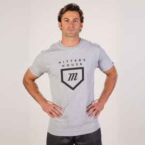 Hitter's Tee - Heather Grey