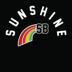 Sunshine Women's 2019 South Bay Rainbow Curved Hem Crew Sweatshirt