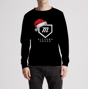 Santa Hat Black Hitters Sweater