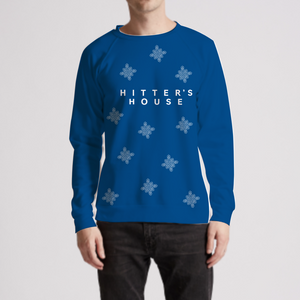Scattered Snowflake Crewneck Sweater
