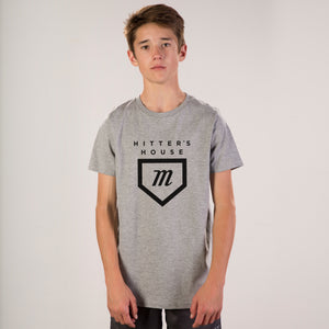Youth Hitter's Tee - Grey
