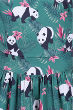 Tropical Panda Tea Dress
