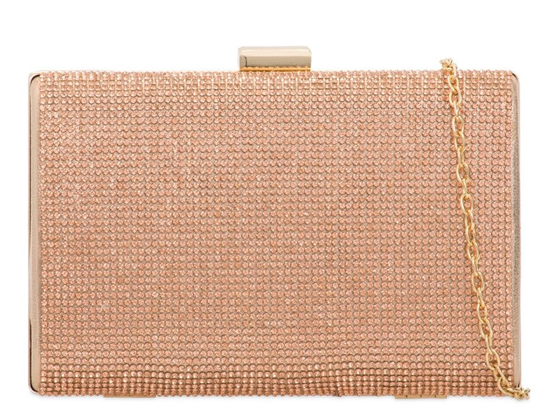 Gold Diamante Evening Clutch Bag