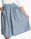 Adalene Indigo Chambray Skirt
